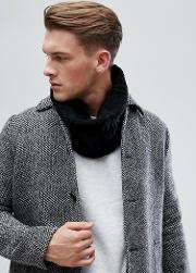 cable snood in black