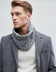 cable snood in grey