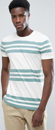 crew neck t shirt with stripes