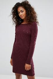 knitted ribbed dress