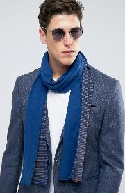 lightweight scarf with stripe in jersey