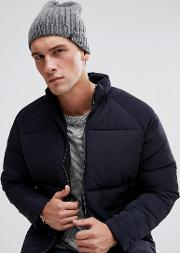 ribbed beanie in grey