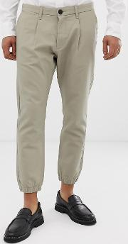 Slim Fit Cuffed Chino
