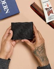 small leather wallet in black