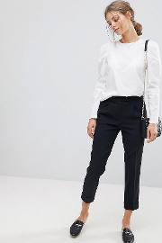 tailored trouser crop high waist