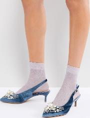 pastis heeled shoes with pearls