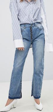 Slim Jean With Exposed Zip