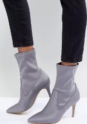 Pull On Sock Boot In Grey