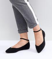 ally pointed flat shoes
