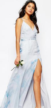 Deco Lily Maxi Dress With Strap Back
