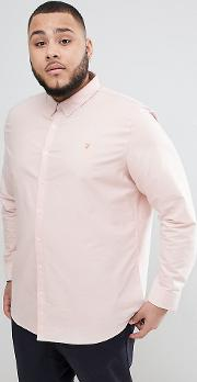 brewer slim fit shirt oxford  in pink