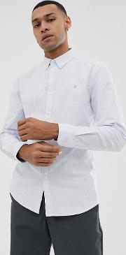 Brewer Slim Fit Stripe Oxford Shirt
