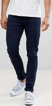 drake twill slim fit jeans in navy