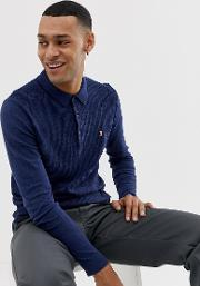 Shackwell Knitted Long Sleeve Polo