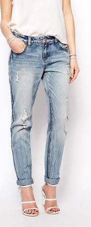 Boyfriend Jeans With Distressing