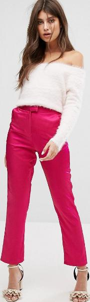 Cigarette Trousers In Luxe Fabric
