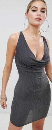 Cowl Front Cami Dress