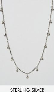 sterling silver multi disc chain necklace
