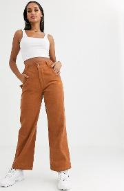 Tailored Trousers With Logo