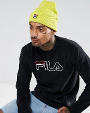 fila beanie with small box logo in yellow