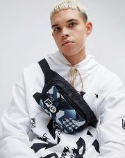 x liam hodges ml3 waistpack in black print