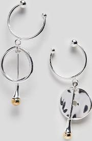 matlock hoop and drop mismatch earrings