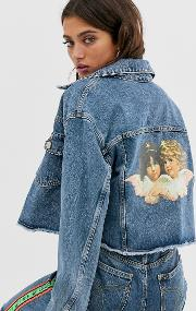 Berty Jacket With Angel Patch