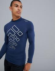 baselayer long sleeve t shirt with high neck