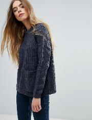 front pocket knitted jumper