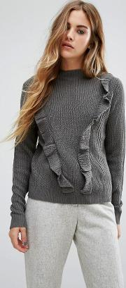 ruffle knit jumper