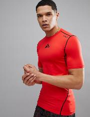 short sleeved running baselayer  shirt  red