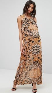 margot maxi dress in print