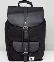 leather lincoln backpack  black