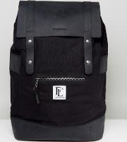 leather rider backpack in black