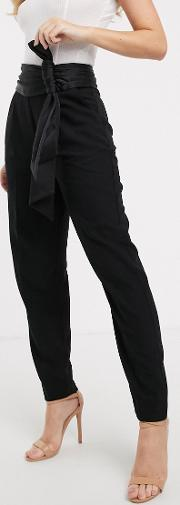 Tailored Trouser With Bow Detail