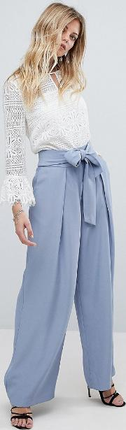 tailored trousers with pleat front