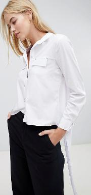 blouse with tie back