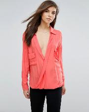 wrap over blouse
