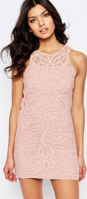 monticello lace mini dress