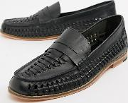 Wide Fit Woven Loafers
