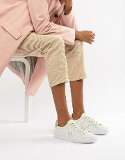 b721 leather trainers with rose gold trim