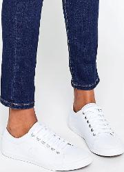 Kingston White Leather Trainers