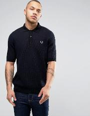 Fred Perry Reissues Polo Mesh Knit In Navy