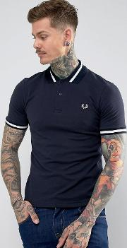 Reissues Tipped Polo Shirt In Navy