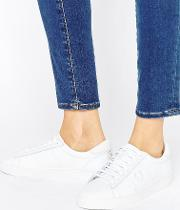 white spencer leather trainers