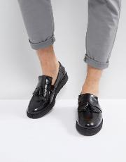 x george cox leather tassel loafers black