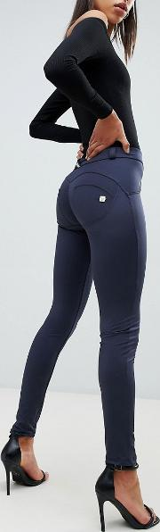 shine shaping effect mid rise push up trouser