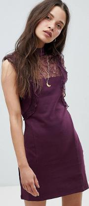 beaumont muse lace detail dress