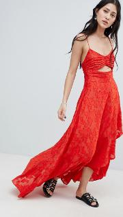 buona serra cut out maxi dress