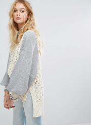 hideaway cable knit jumper